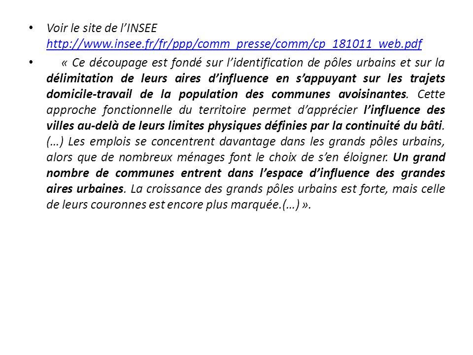 Voir le site de l'INSEE http://www. insee