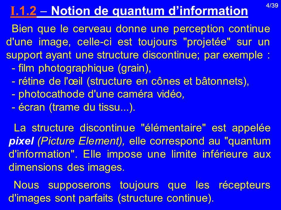 I.1.2  Notion de quantum d'information