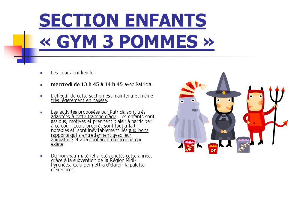 SECTION ENFANTS « GYM 3 POMMES »