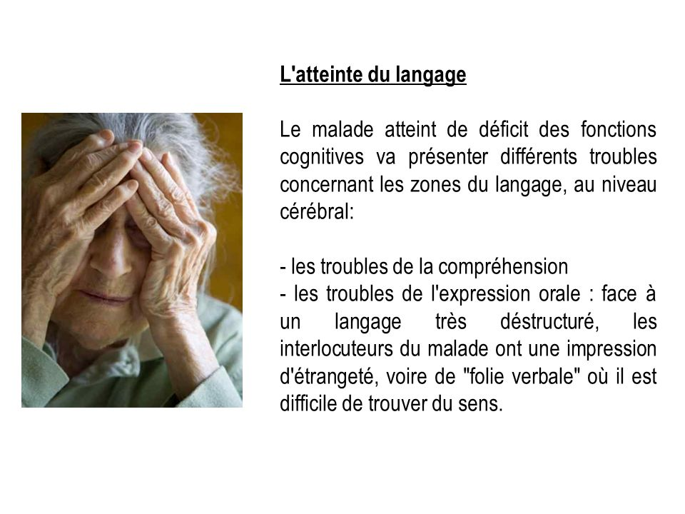L atteinte du langage