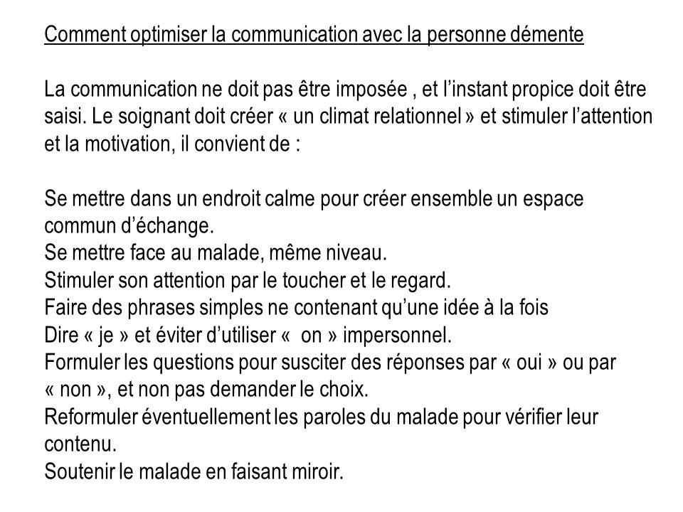 Comment optimiser la communication avec la personne démente
