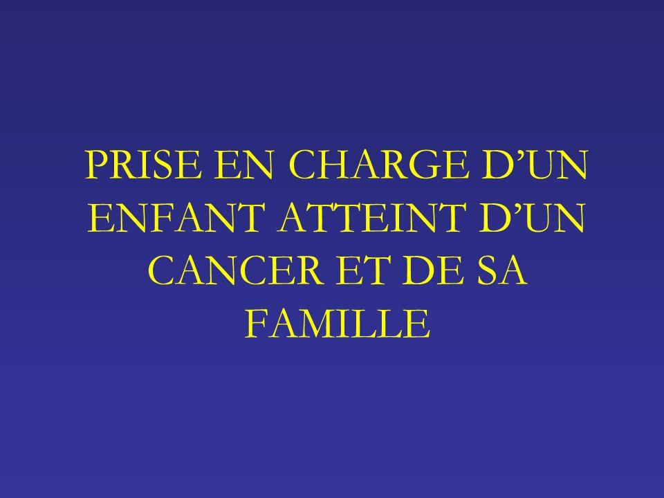 PRISE EN CHARGE D'UN ENFANT ATTEINT D'UN CANCER ET DE SA FAMILLE