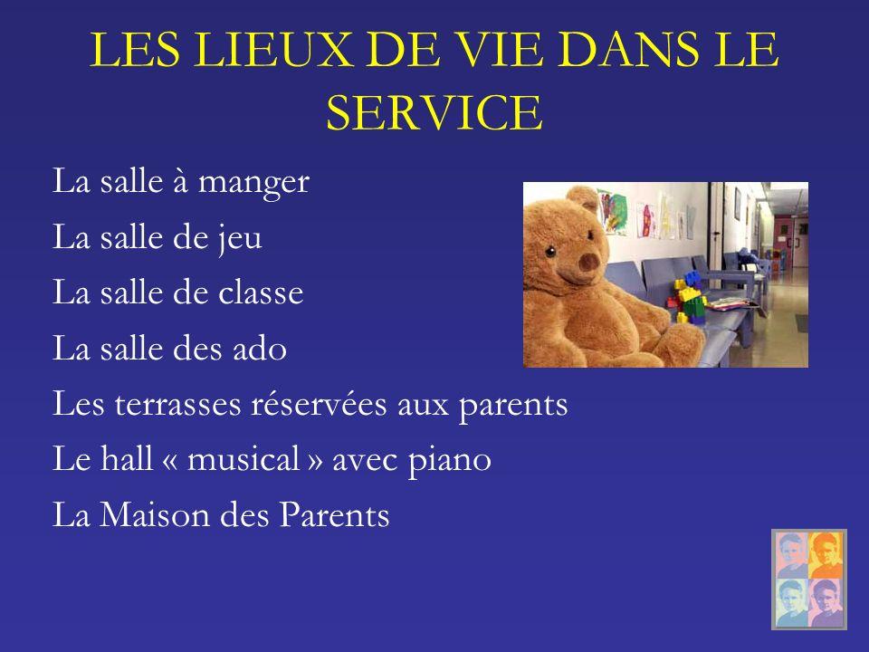 LES LIEUX DE VIE DANS LE SERVICE