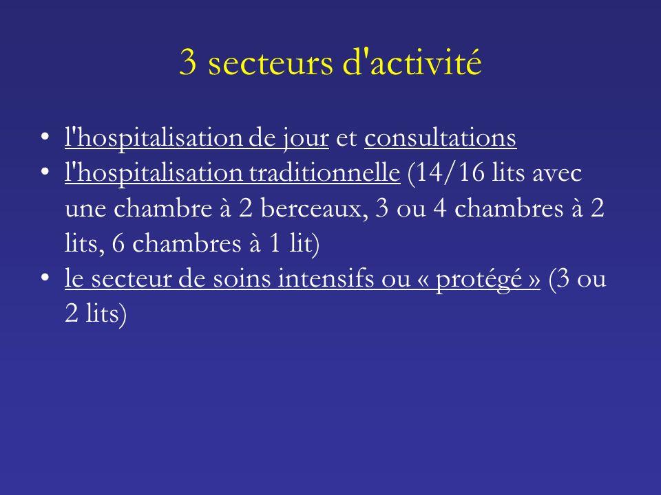 3 secteurs d activité l hospitalisation de jour et consultations