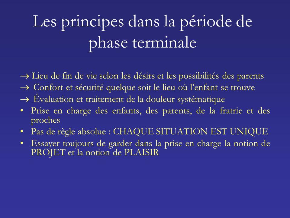 Les principes dans la période de phase terminale