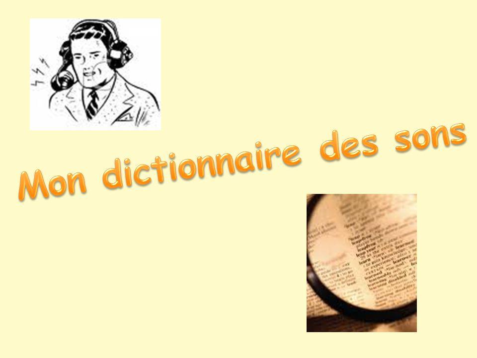 Mon dictionnaire des sons
