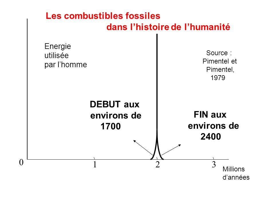 Les combustibles fossiles dans l'histoire de l'humanité