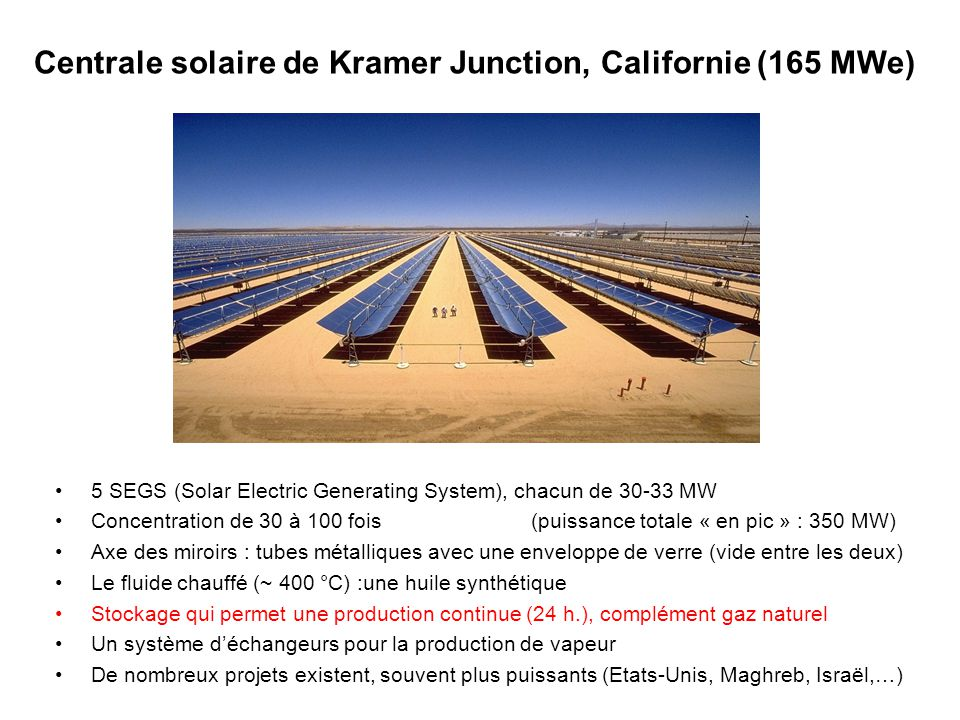 Centrale solaire de Kramer Junction, Californie (165 MWe)