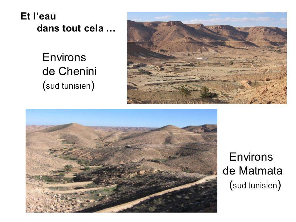 Environs de Chenini (sud tunisien) Environs de Matmata (sud tunisien)