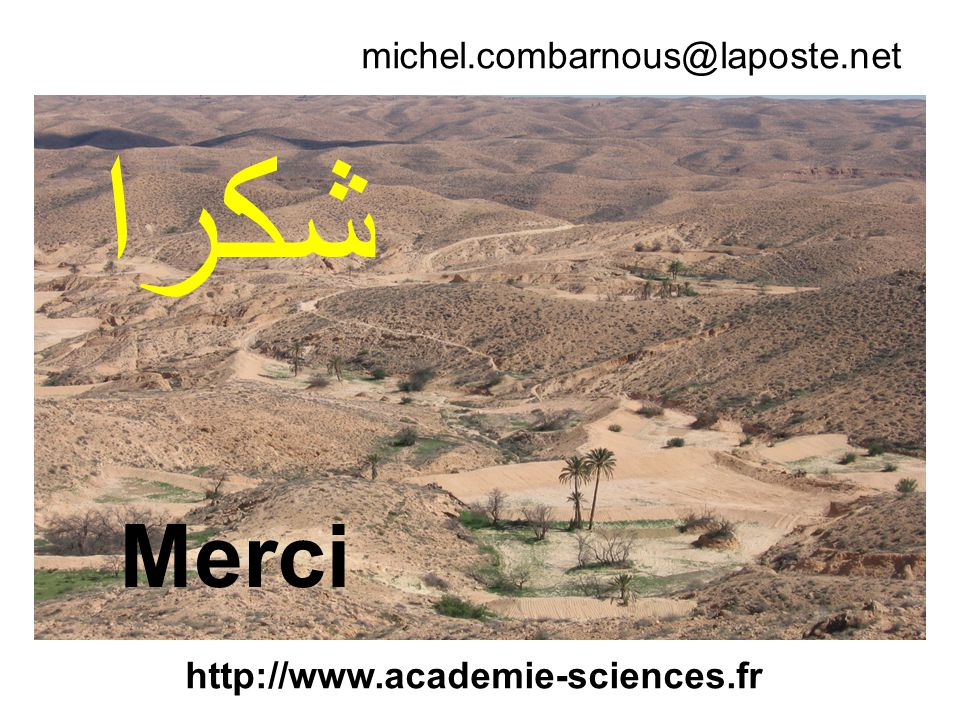 ﺷﻜﺭﺍ Merci michel.combarnous@laposte.net