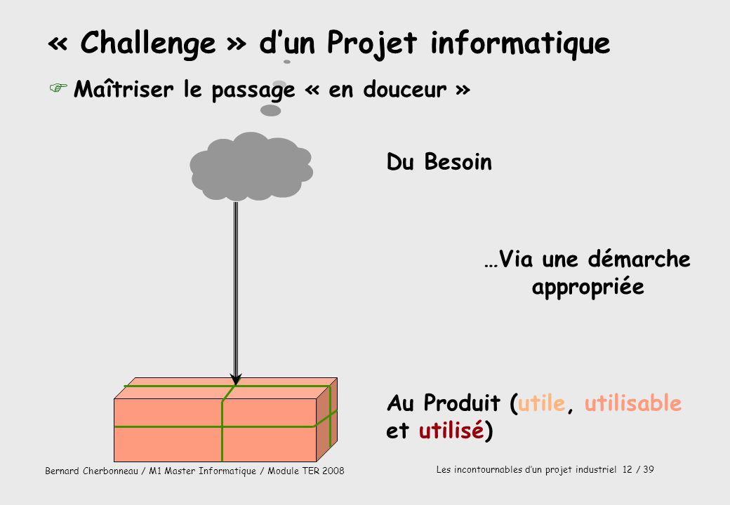 « Challenge » d'un Projet informatique