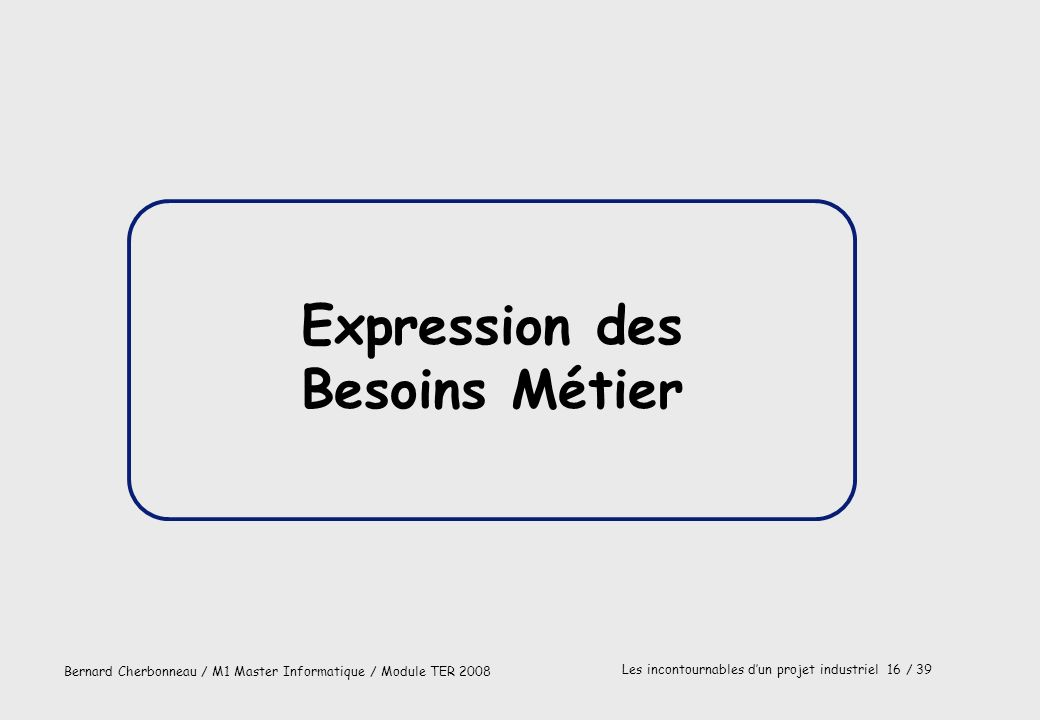 Expression des Besoins Métier