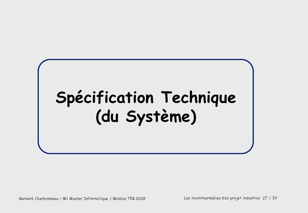 Spécification Technique