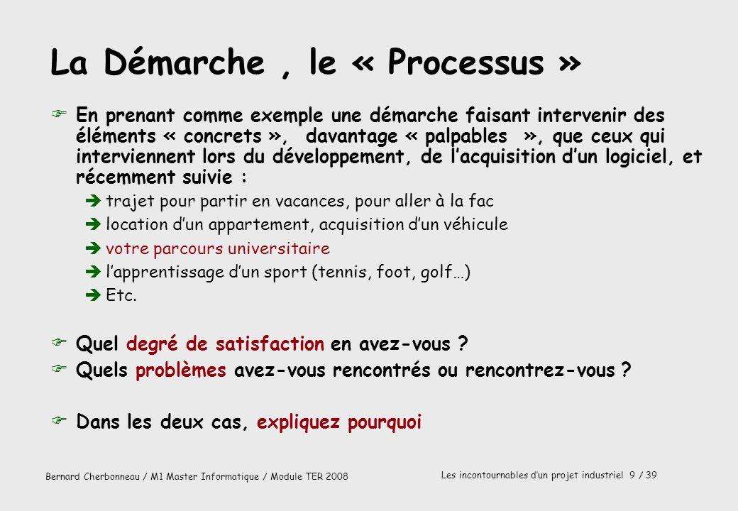 La Démarche , le « Processus »