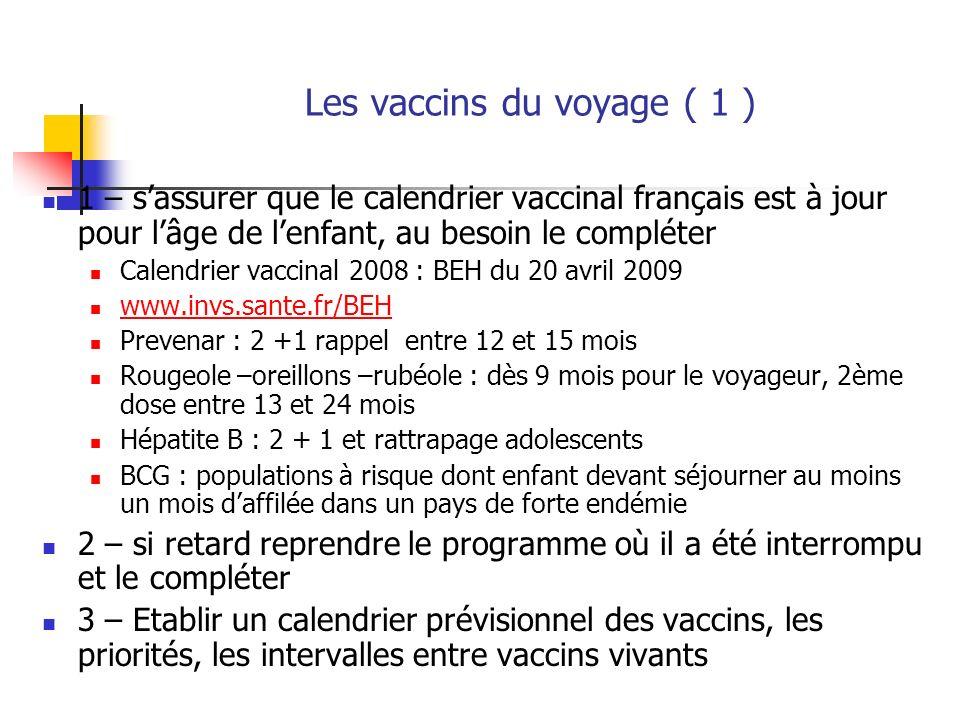 Les vaccins du voyage ( 1 )