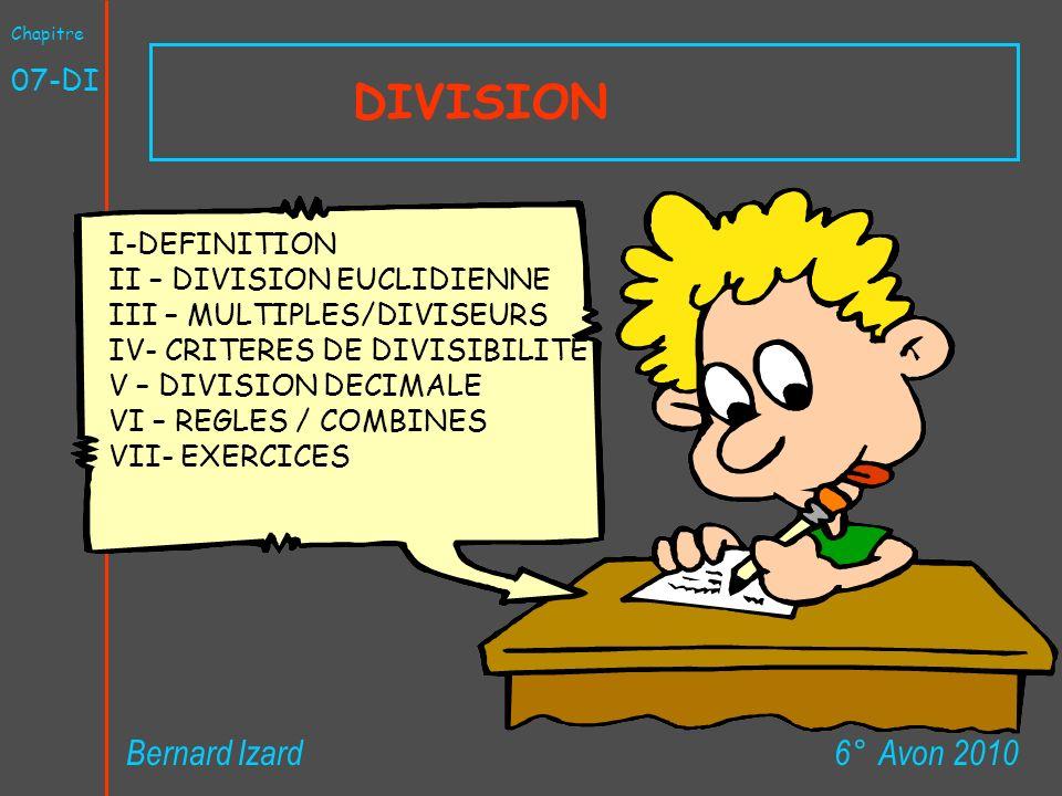 DIVISION Bernard Izard 6° Avon 2010 07-DI I-DEFINITION
