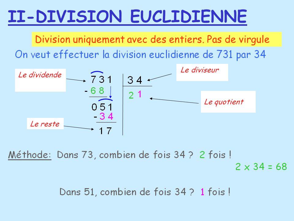 II-DIVISION EUCLIDIENNE
