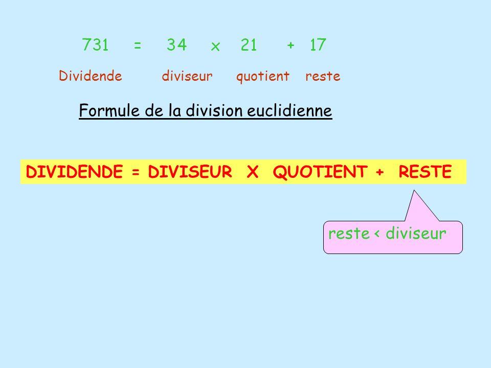 Formule de la division euclidienne