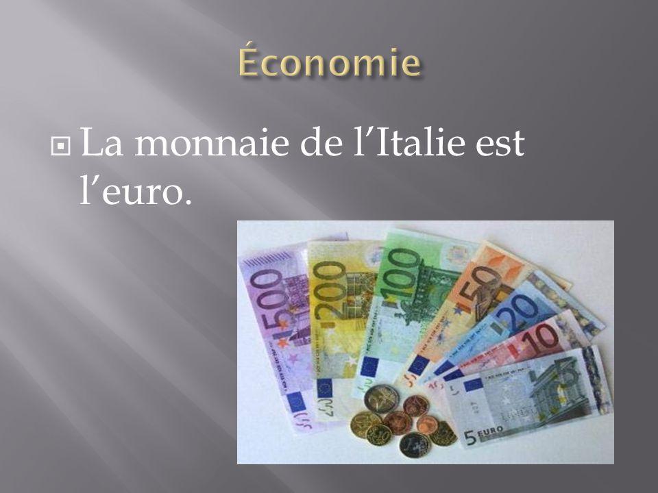 La monnaie de l'Italie est l'euro.