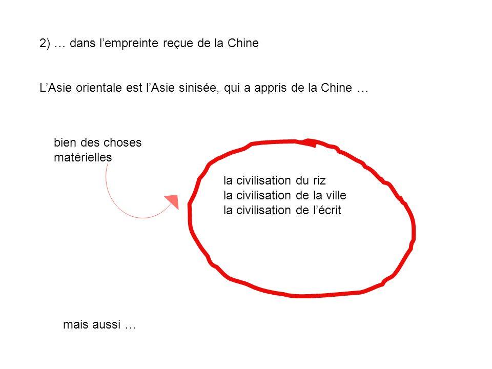 2) … dans l'empreinte reçue de la Chine