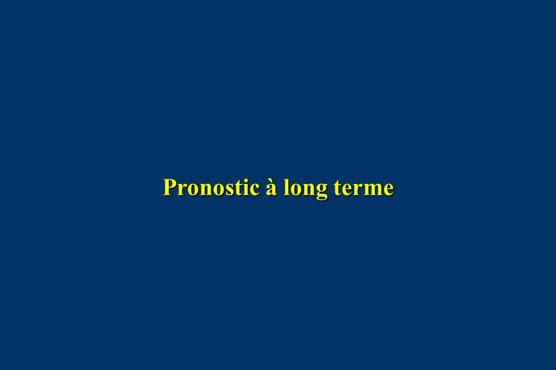 Pronostic à long terme