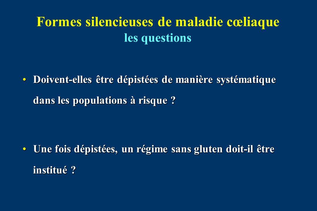 Formes silencieuses de maladie cœliaque les questions