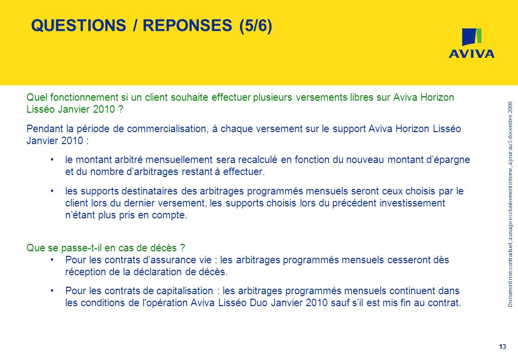 QUESTIONS / REPONSES (5/6)