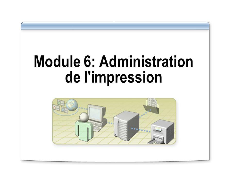 Module 6: Administration de l impression