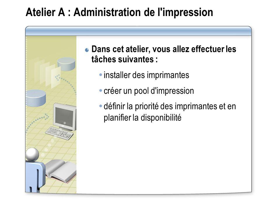 Atelier A : Administration de l impression