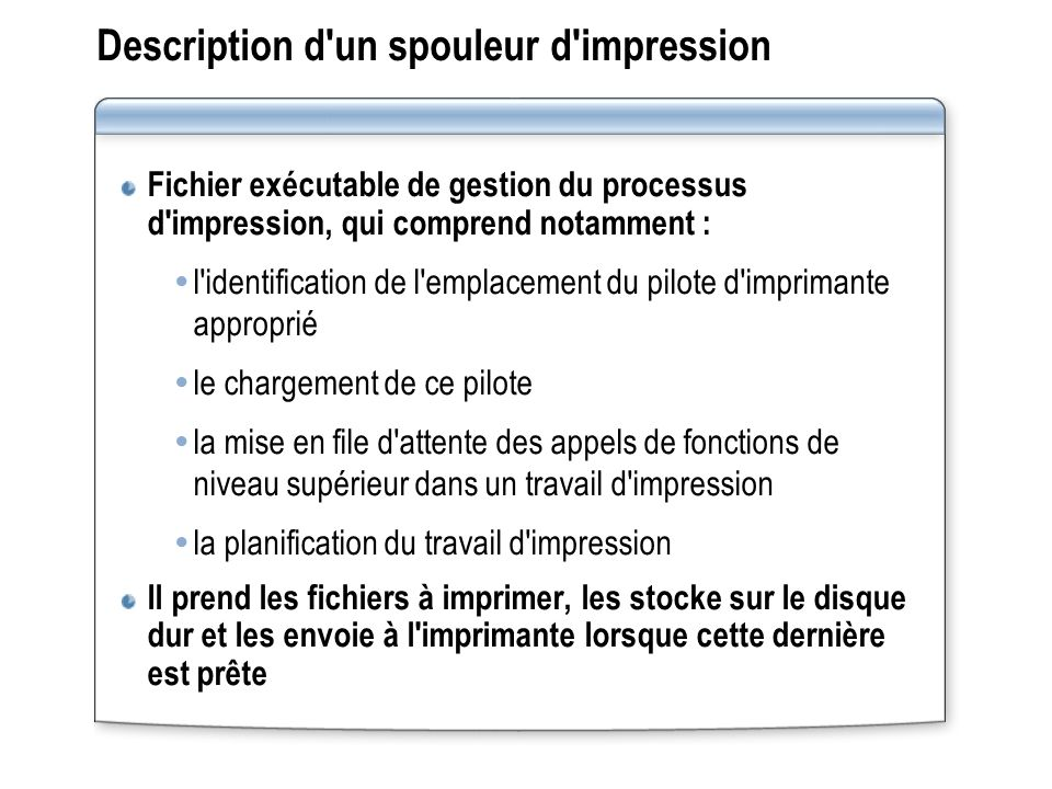 Description d un spouleur d impression