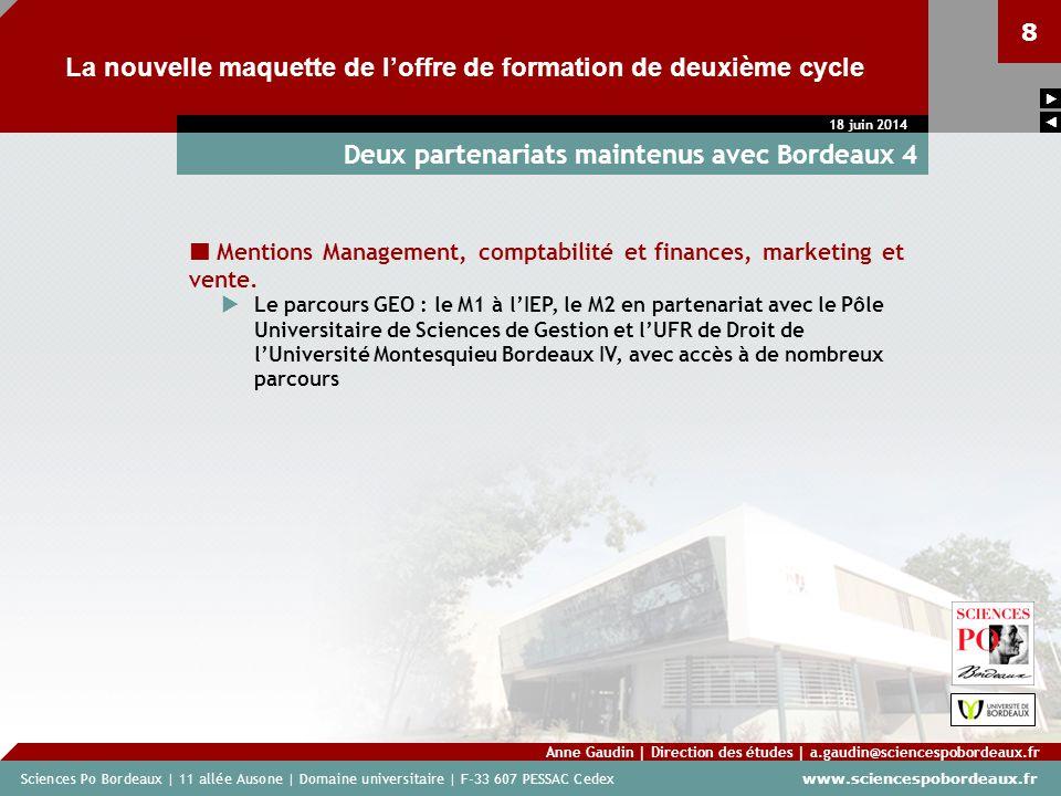 Deux partenariats maintenus avec Bordeaux 4