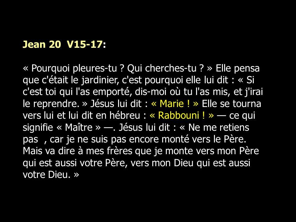 Jean 20 V15-17: