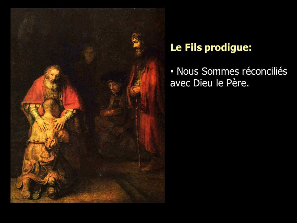 Le Fils prodigue: Nous Sommes réconciliés avec Dieu le Père.