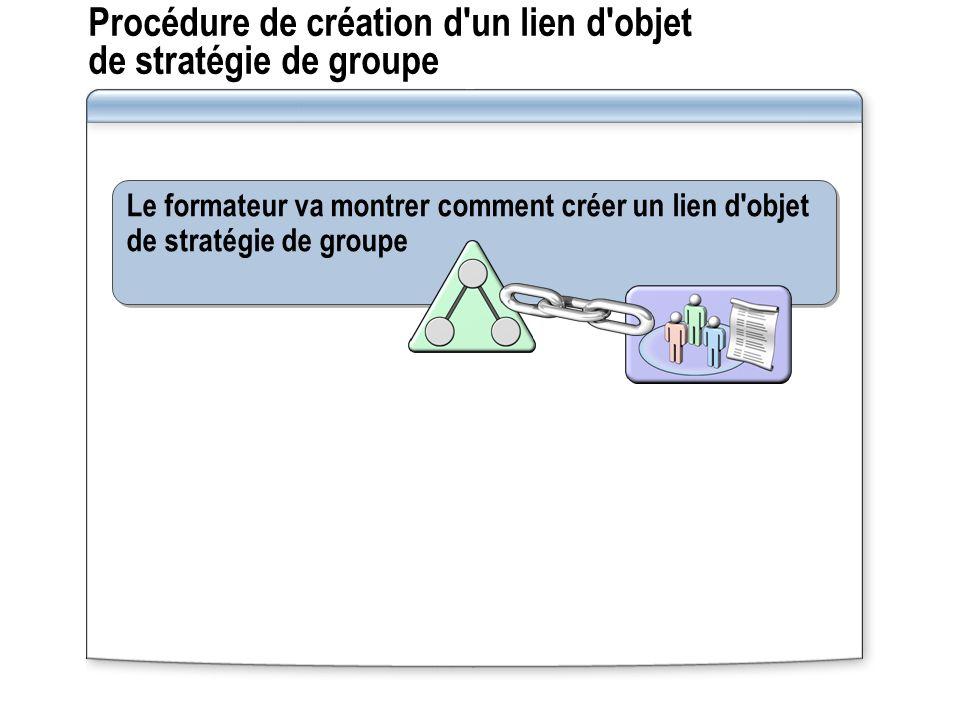 Procédure de création d un lien d objet de stratégie de groupe