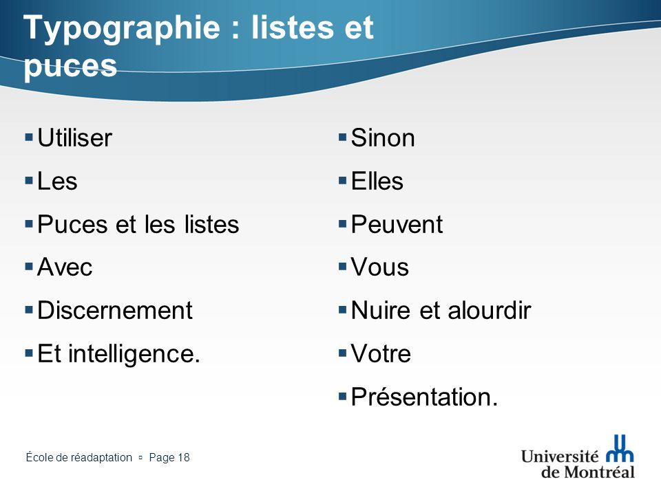 Typographie : listes et puces