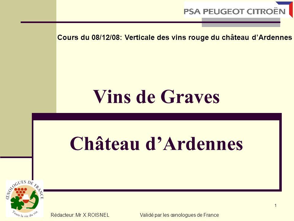 Vins de Graves Château d'Ardennes