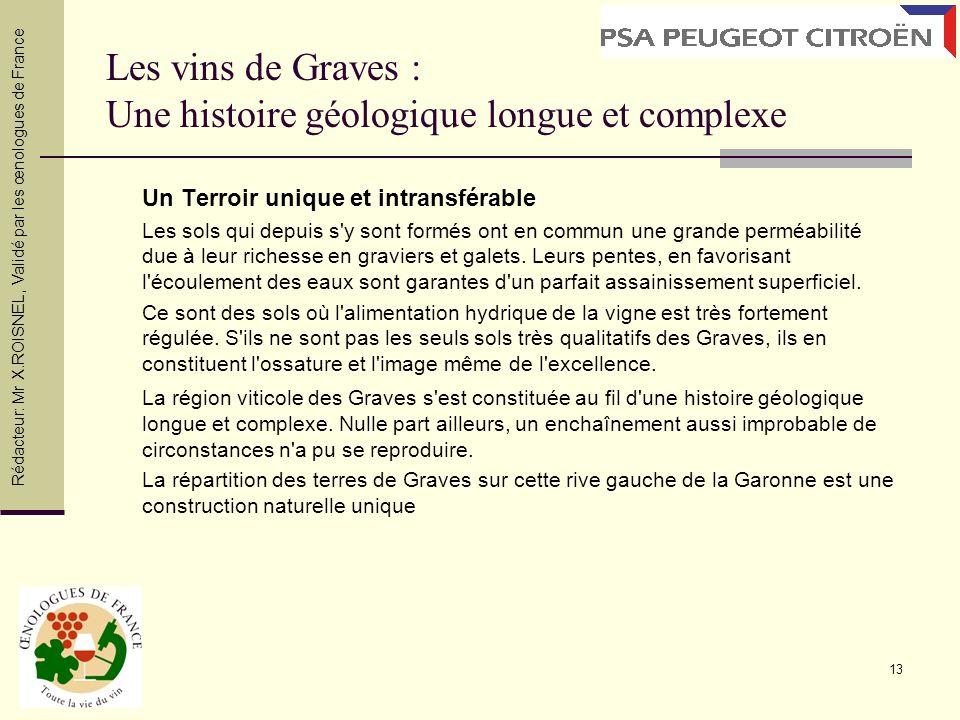 Les vins de Graves : Une histoire géologique longue et complexe