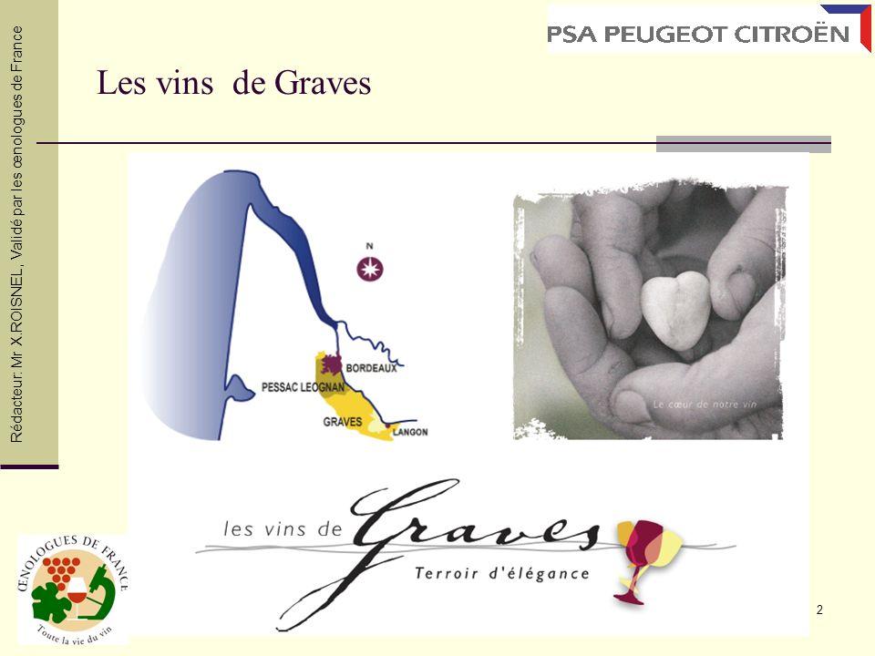 Les vins de Graves Rédacteur: Mr X.ROISNEL , Validé par les œnologues de France