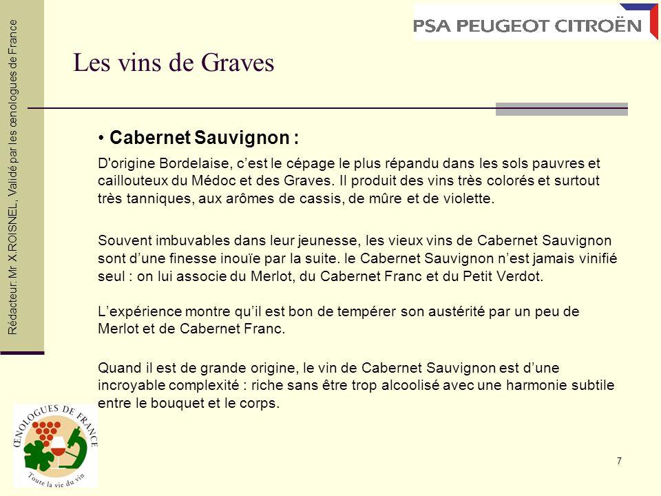 Les vins de Graves • Cabernet Sauvignon :