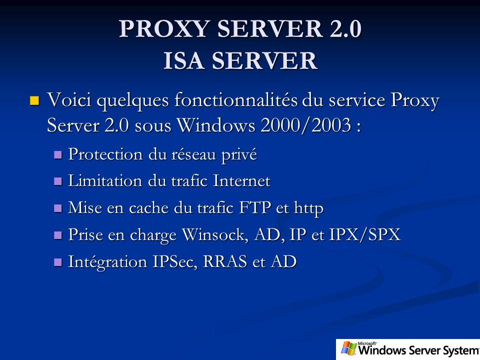 PROXY SERVER 2.0 ISA SERVER
