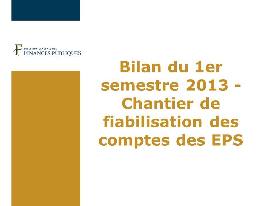 02/04/2017 Bilan du 1er semestre 2013 - Chantier de fiabilisation des comptes des EPS