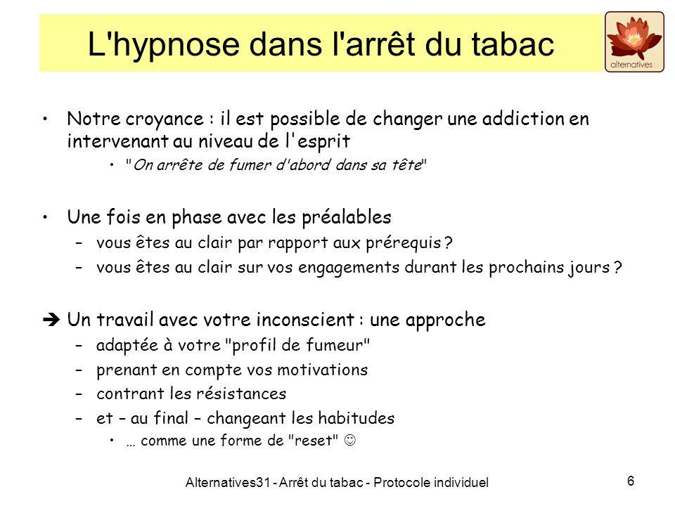 L hypnose dans l arrêt du tabac