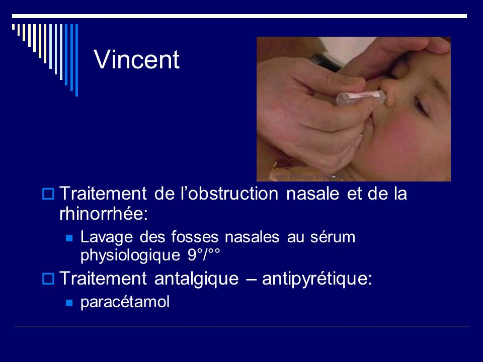 Vincent Traitement de l'obstruction nasale et de la rhinorrhée: