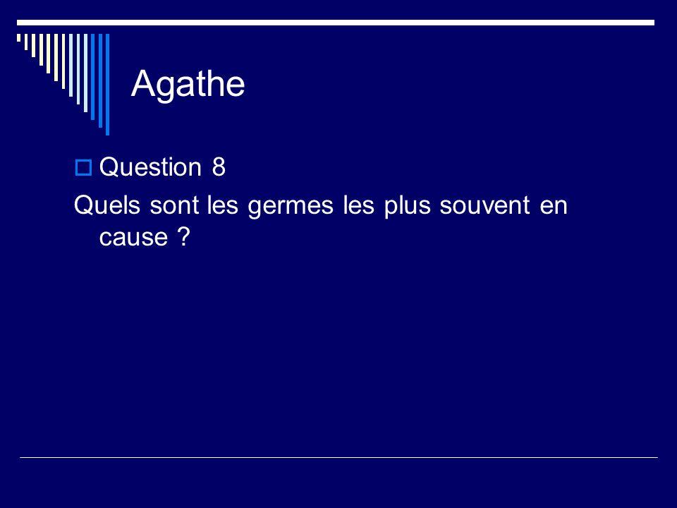 Agathe Question 8 Quels sont les germes les plus souvent en cause