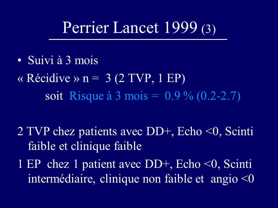 Perrier Lancet 1999 (3) Suivi à 3 mois