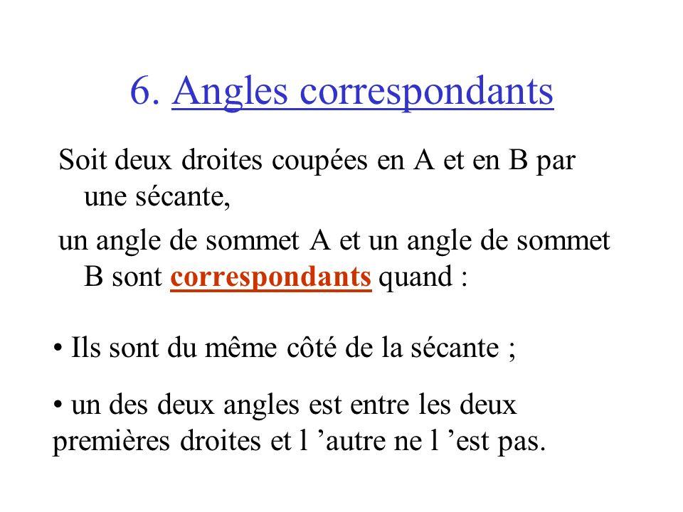 6. Angles correspondants