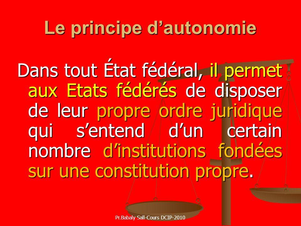 Le principe d'autonomie