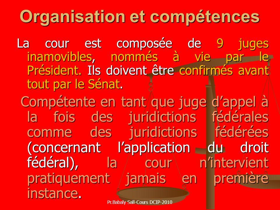 Organisation et compétences