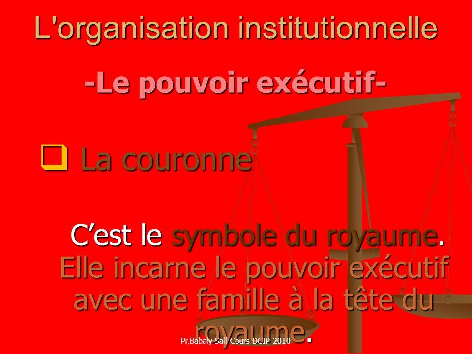 L organisation institutionnelle