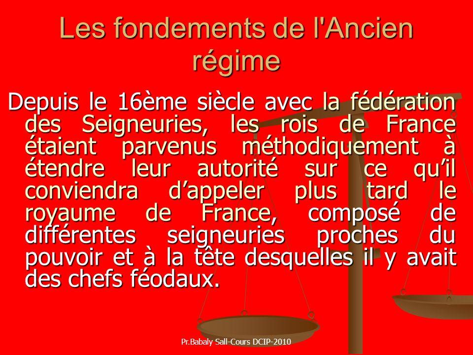 Les fondements de l Ancien régime